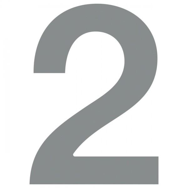 Numéro de Maison ''2'' grise