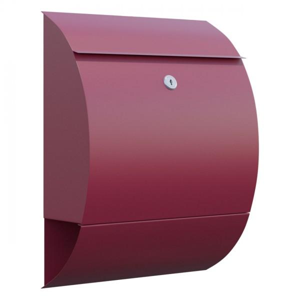 Boite Aux Lettres Design Boite Murale Sunshine Rouge Bravios