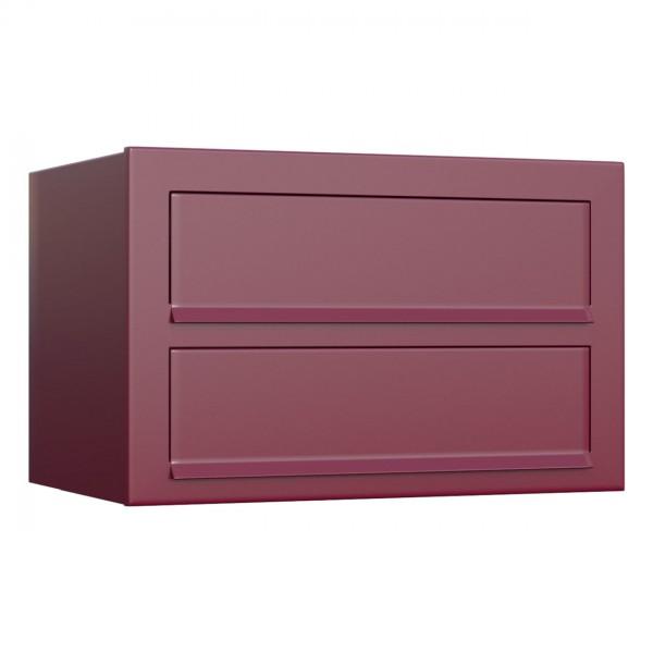 Boite Aux Lettres Design Boite Murale Cube Pour Deux Rouge