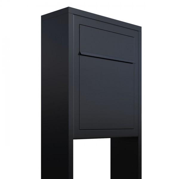 Boîte aux lettres sur pieds Base Noire