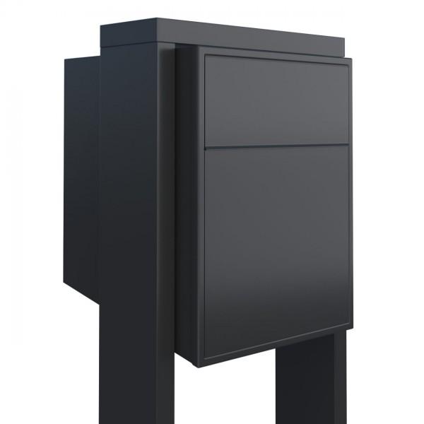 Bravios Boite Aux Lettres Elegance Noire Inox Design Kion Com Gr