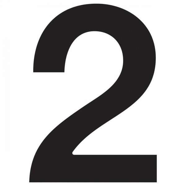 Numéro de Maison ''2'' Noire