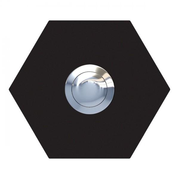 Sonnette Hexagone Noire