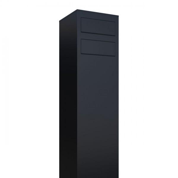 Boîtes aux lettres Monolith pour deux Noire