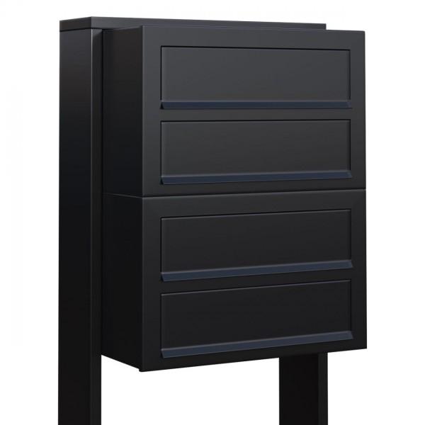 Boite Aux Lettres Bravios Cube For Four Noire Inox Design