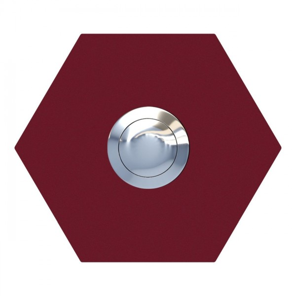 Sonnette Hexagone Rouge