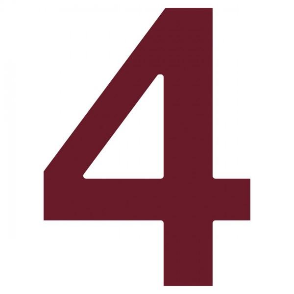 Numéro de Maison ''4'' Rouge