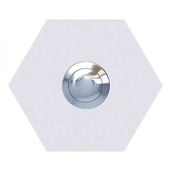 Sonnette Hexagone Blanche