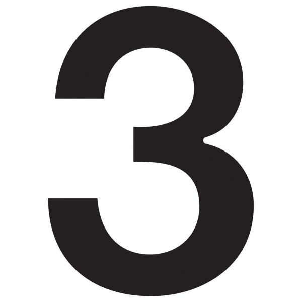 Numéro de Maison ''3'' Noire