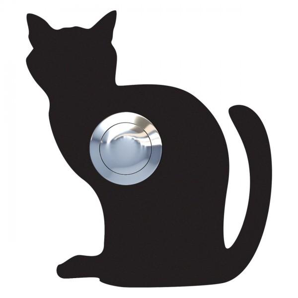Sonnette Chat ''Luna'' Noire