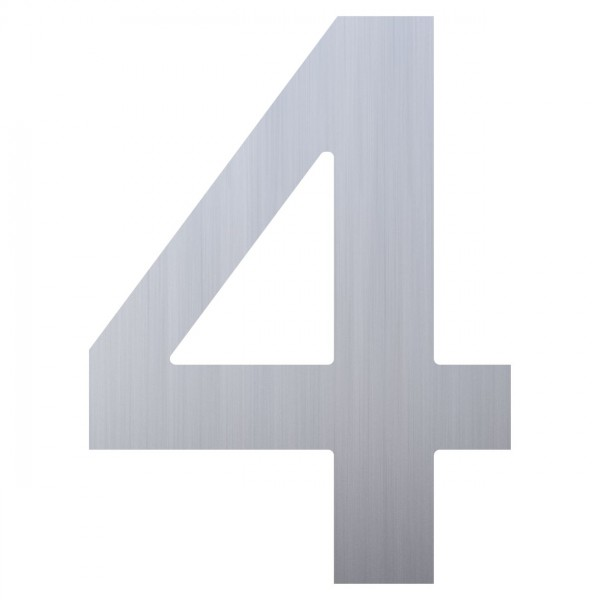 Numéro de Maison ''4'' Inox