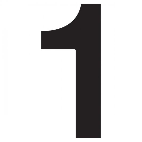 Numéro de Maison ''1'' Noire