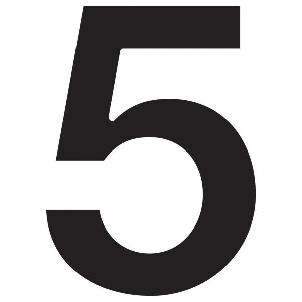 Numéro de Maison ''5'' Noire