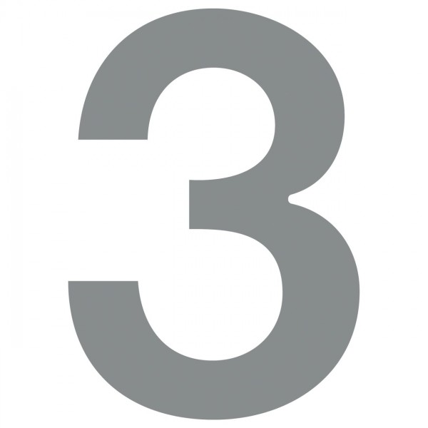 Numéro de Maison ''3'' Gris